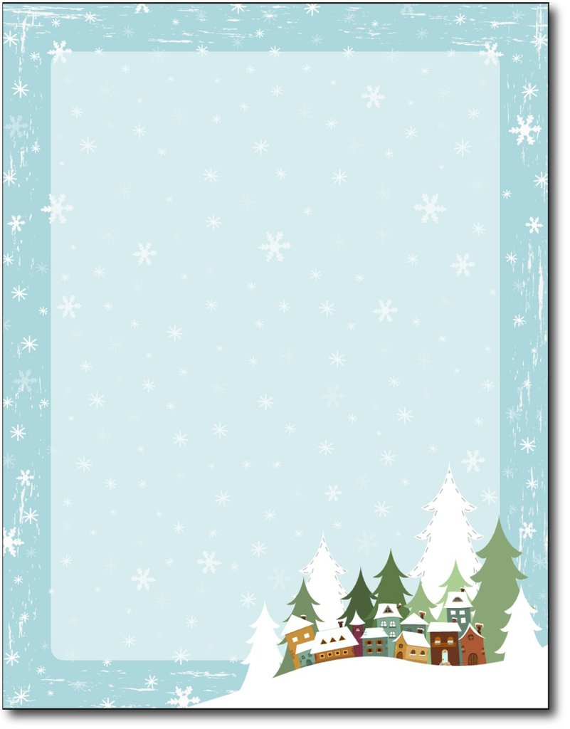 Winter Village Holiday Stationery.