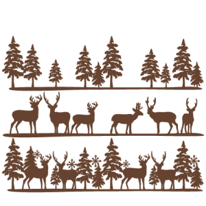 Freebie of the Day! Winter Scene Borders Set Model/SKU.