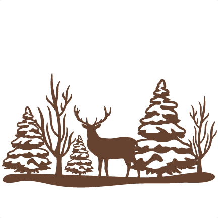 Winter Deer Clipart.