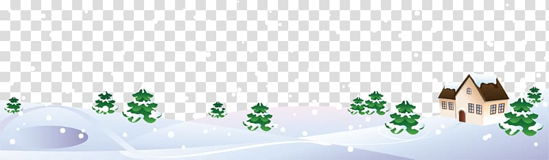 Winter Snow, Winter scenery transparent background PNG.