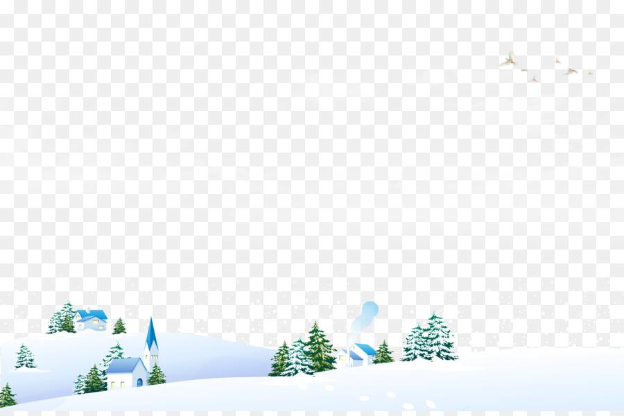 Snow field Winter Landscape.