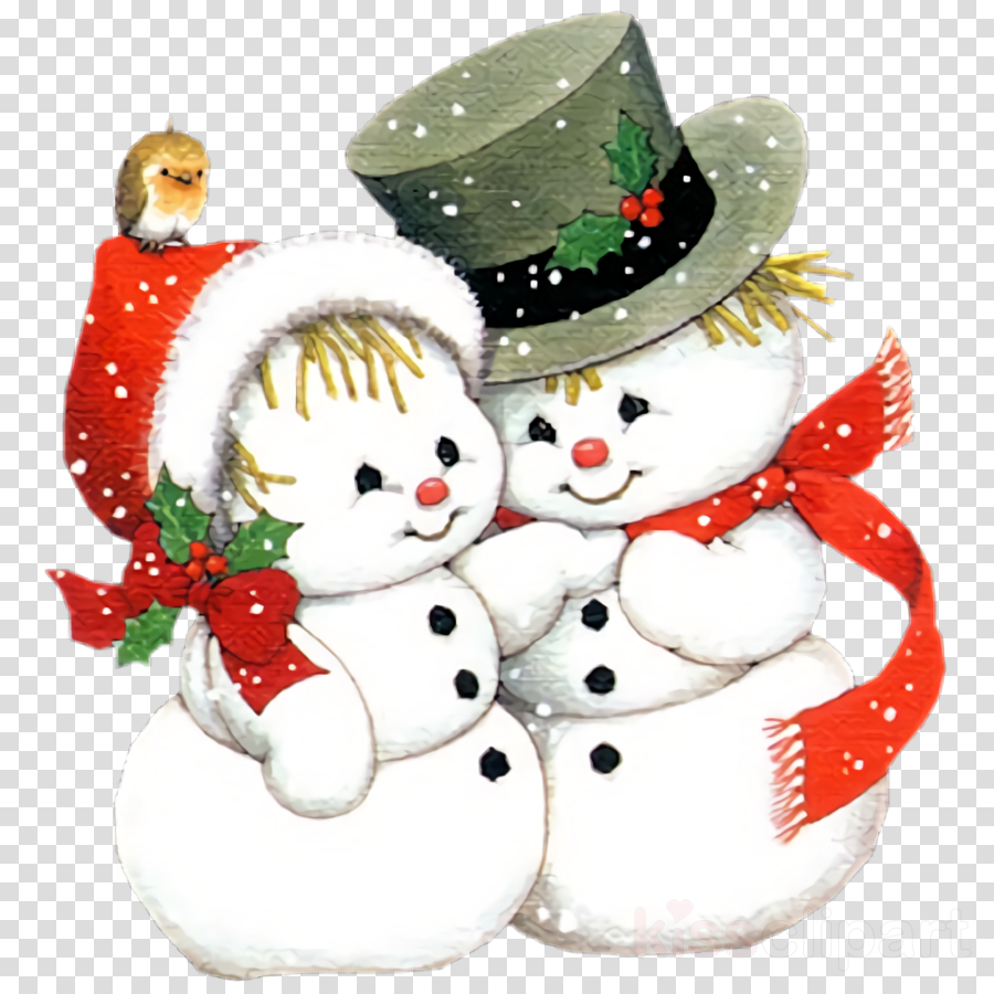 Christmas snowman snowman winter clipart.