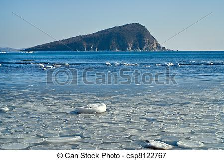 Picture of Small island in winter sea 20.