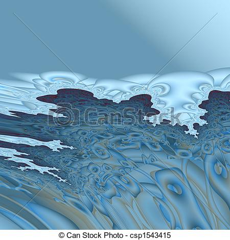 Stock Illustrations of winter sea.