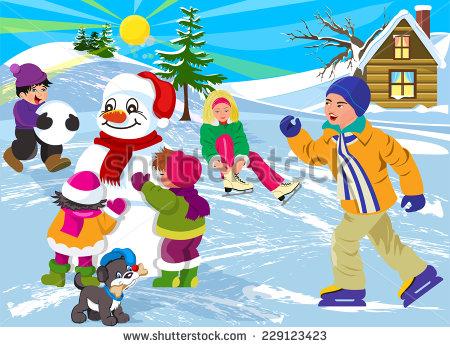 Winter season clip art.
