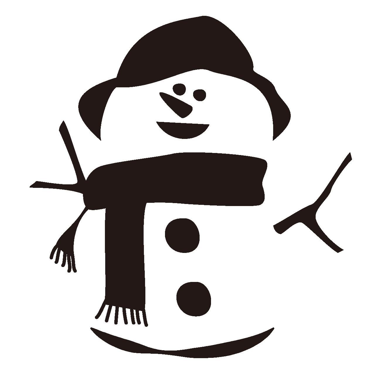 Snowman #christmas #silhouette #winter #snow #vector #art.