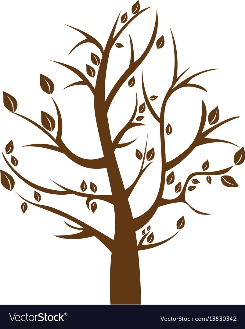 Silhouette tree in winter season.