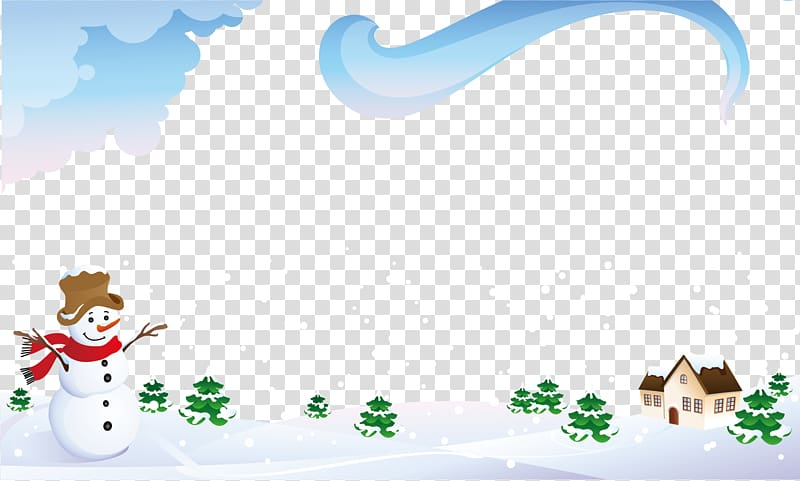 Season illustration Illustration, Snow snow snow warm winter.