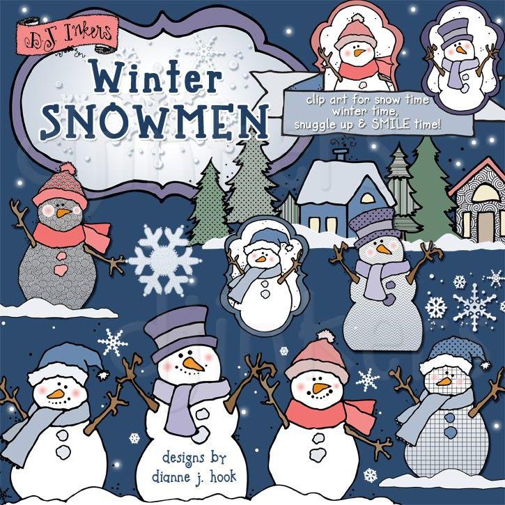 winter, snowman, snowmen, snow, clipart, clip art, snowy.