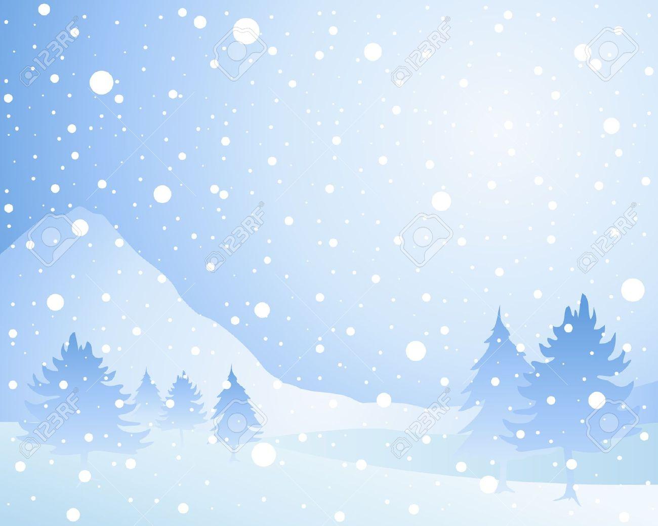 Christmas landscape clipart.