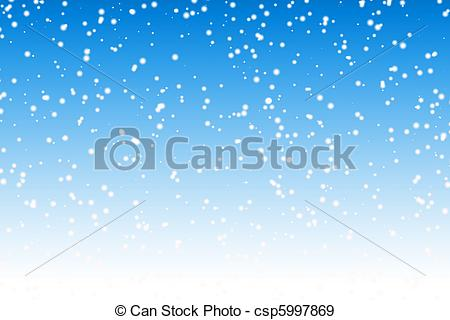 Stock Illustration of Falling snow over night blue winter sky.
