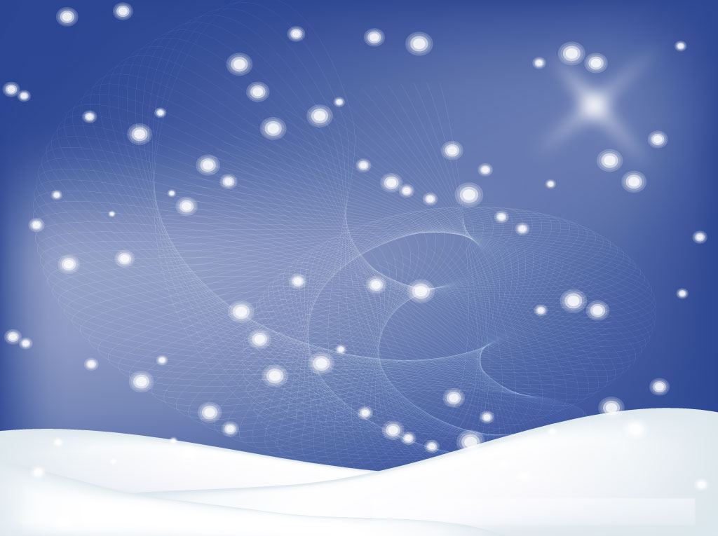 Winter Snow Design Vector Art & Graphics.