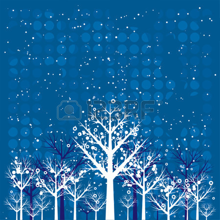 Winter, Design, Forest, Season, Circle, Vector, Merry, Color.