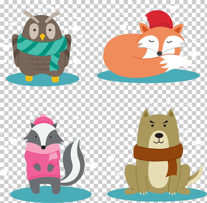 Animal , Small animals warm winter PNG clipart.