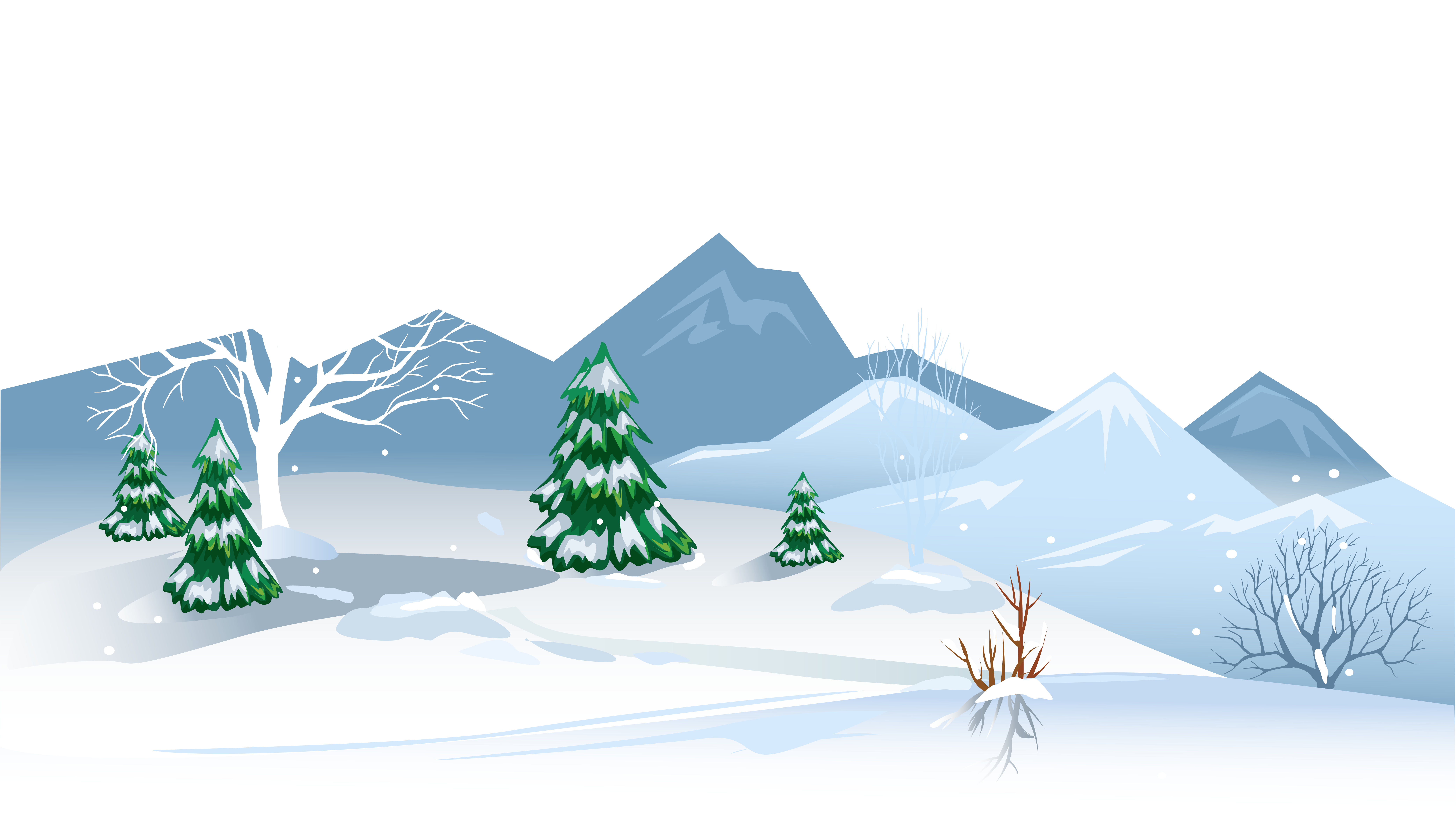 Winter Ground with Snow PNG Clipart Image.