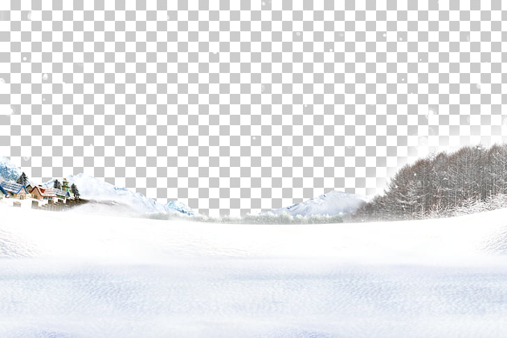 Snow Winter, Winter snow scene unmanned iceberg PNG clipart.