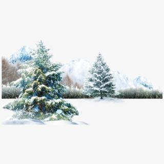 Wildlife Clipart Snow Scene.