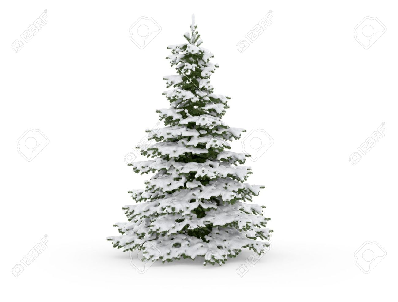Christmas Tree Snow Black And White Clipart.