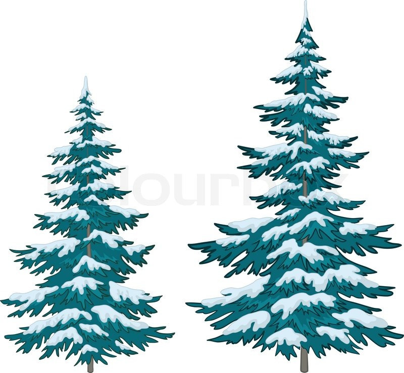Showing post & media for Cartoon evergreen trees with snow.