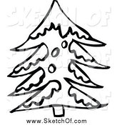 Royalty Free Winter Tree Stock Sketch Designs.