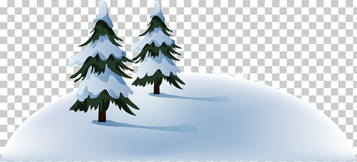 winter snow trees blank clipart #6