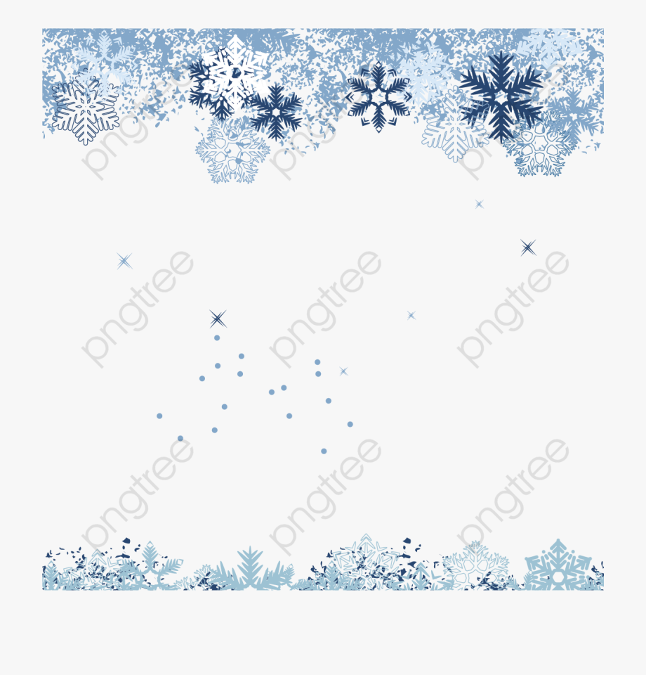 Winter Snowflake Background.