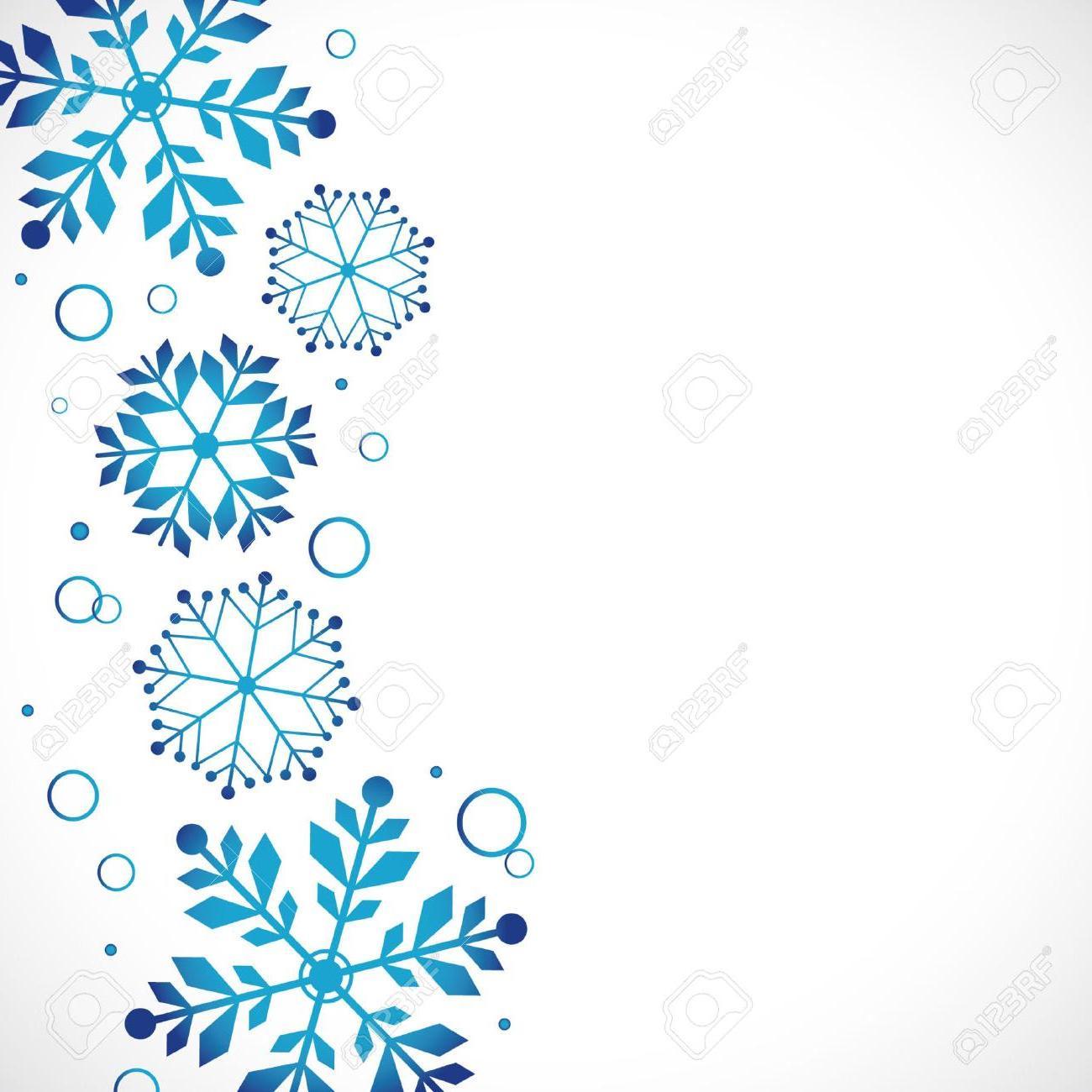 HD Winter Snowflake Border Vector Design » Free Vector Art.