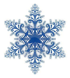 Winter Snowflakes Clip Art.