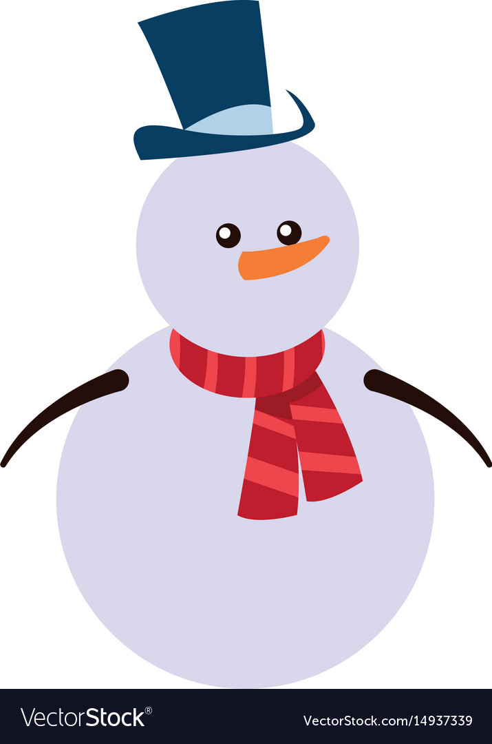 Snowman christmas character winter hat scarf.