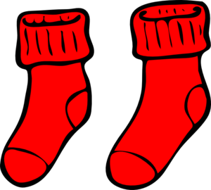 Winter socks clipart.