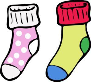 Kids socks clipart.