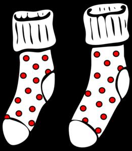 Clip art of socks.