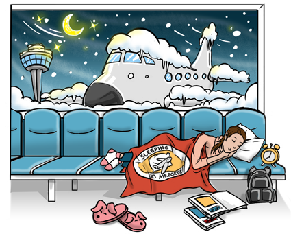 The Guide to Sleeping in Airports.