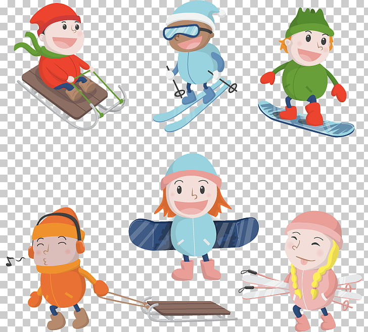 54 Cards Skiing Winter sport , Cool skateboard selected.
