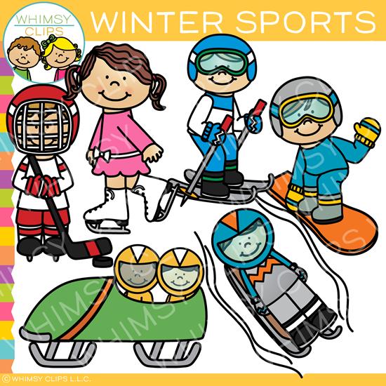 Winter Sports Clip Art.