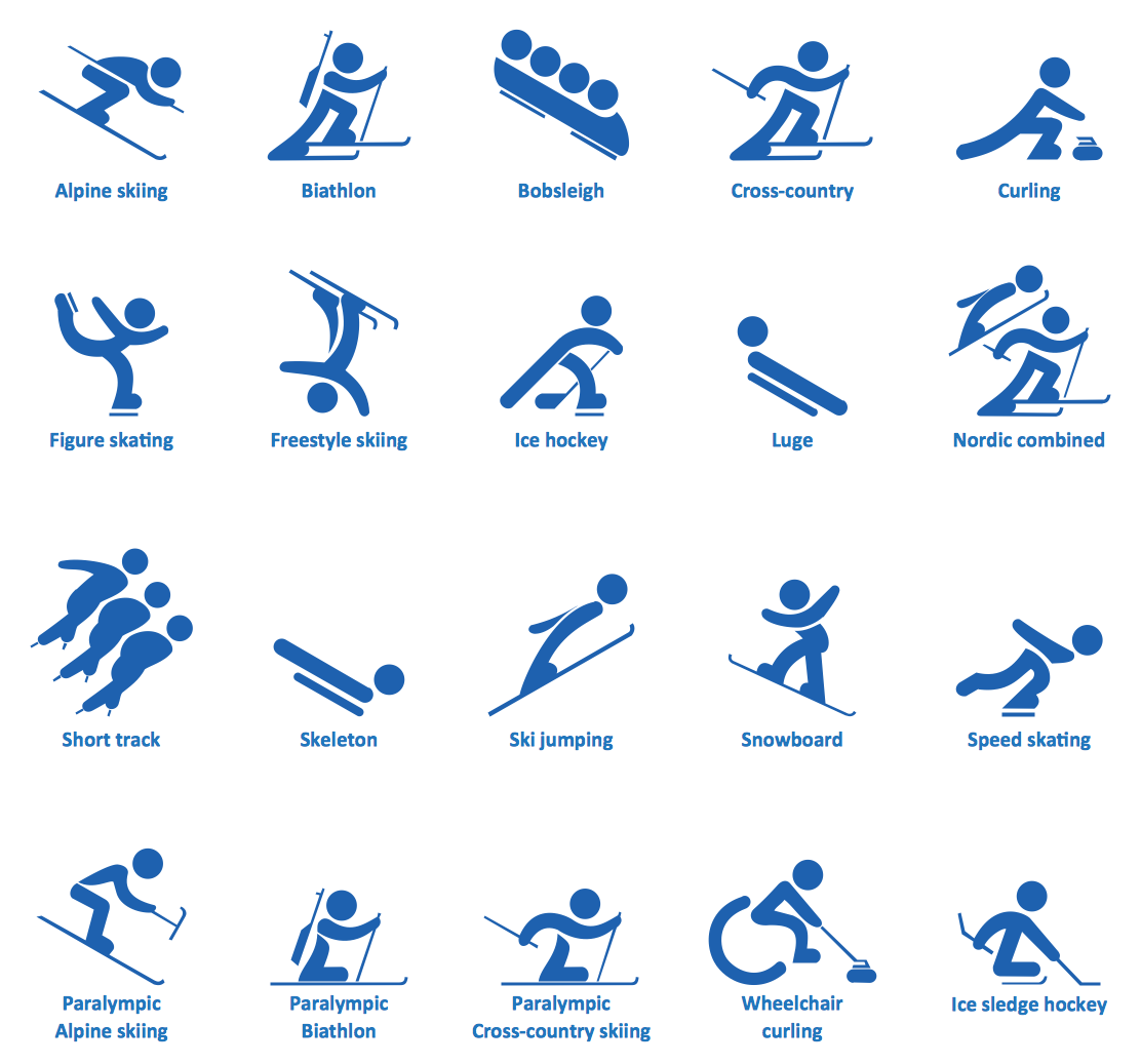 Winter Sports. Design Elements.