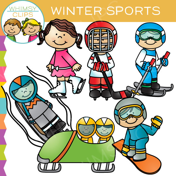 Winter Sports Clip Art , Images & Illustrations.