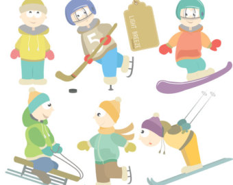 Winter Sports Clip Art.