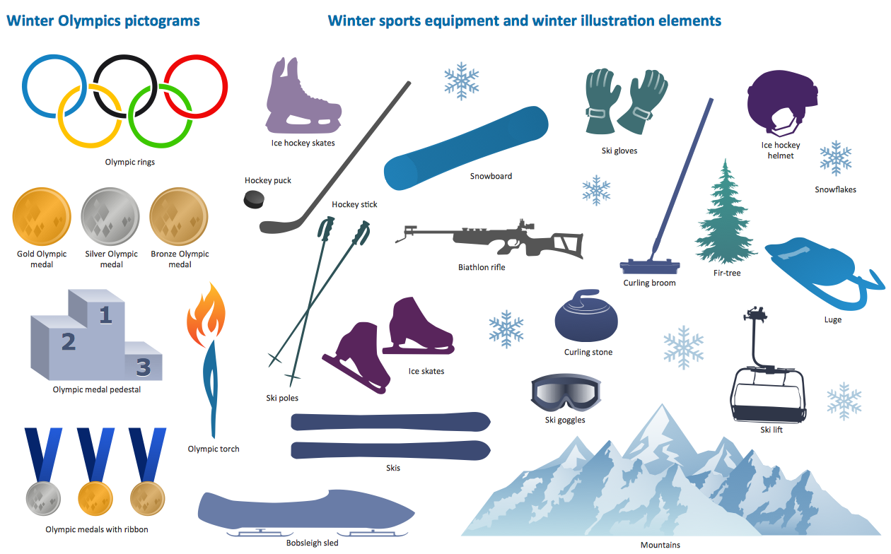 Winter Sports Clipart.