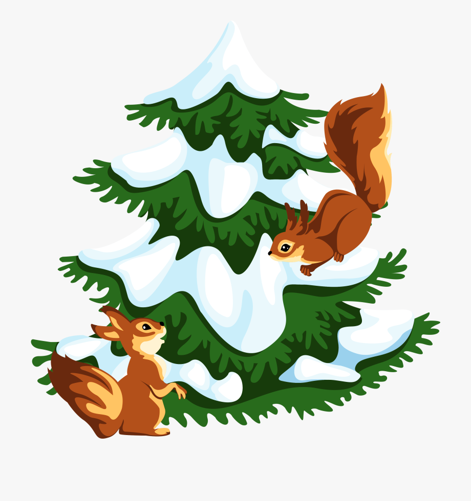 Squirrel Clipart Winter.