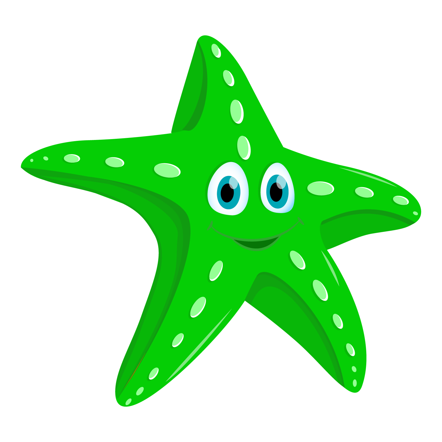 Green clipart starfish, Green starfish Transparent FREE for.