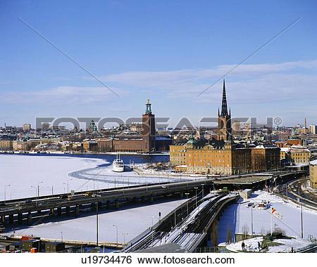 Stock Images of Winter in Stockholm, Sweden u19734476.