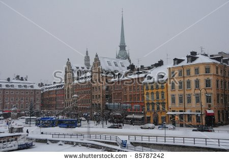 Stockholm Winter Stock Photos, Royalty.
