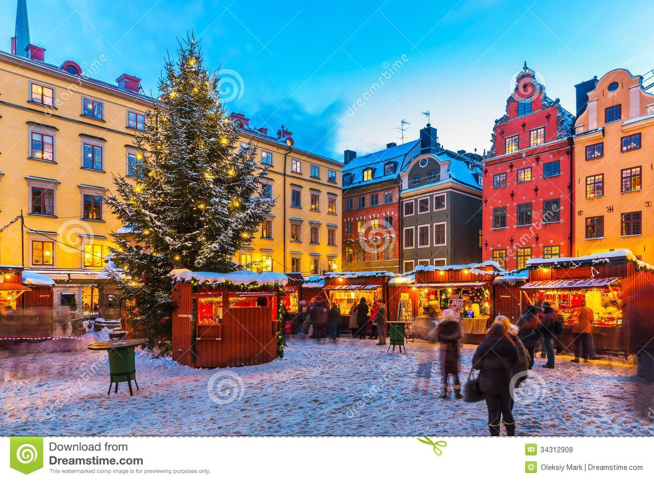 Christmas Fair In Stockholm, Sweden Royalty Free Stock Photos.