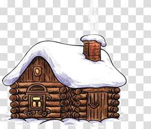 Log cabin Cartoon Cottage Drawing , cartoon house.