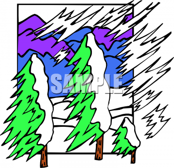 Winter Snow Storm Clipart.