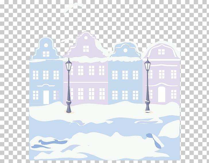 Street Illustration, Winter street PNG clipart.