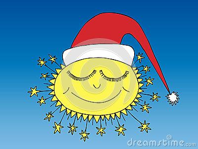 Winter Sun Clip Art.