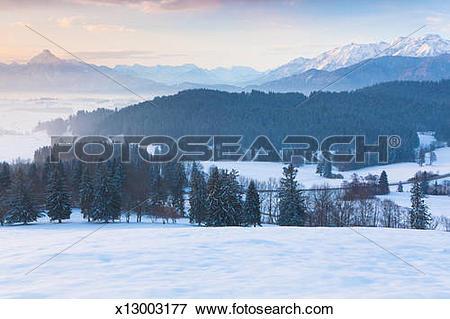 Picture of Winter sunrise sihlotte in Allgaeu, Bavaria x13003177.