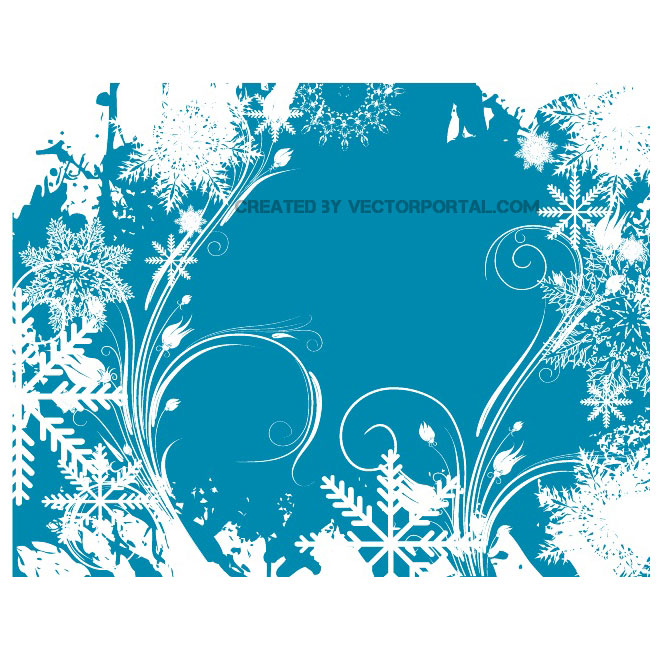 Christmas snowy vector background.